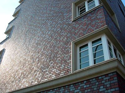 Projekt52: Architektur: Eine frisch verklinkerte Hauswand