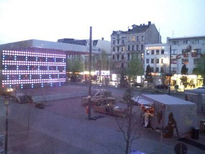 Ausblick vom Kukuun Hamburg auf den Spielbudenplatz auf'm Kiez