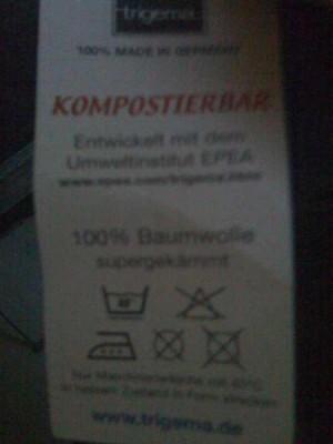 voll kompostierbares Cradle-to-Cradle-T-Shirt von Trigema