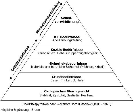 erweiterte Bedürfnispyramide nach Maslow